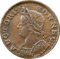 Colonials, 1786 COPPER Connecticut, Mailed Bust Left, M. 5.4-O.1, W-2590, R.2, AU55 NGC. 141.1 grains. Lovely olive surfaces exhibit s...