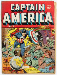 Captain America Comics #2 Married Cover (Timely, 1941) Condition: Apparent PR