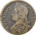 Colonials, 1787 Connecticut, Draped Bust Left, M. 29.2-N, W-3160, R.6, VF35 NGC. 156.9 grains. Obverse 29.2 is known with reverse dies ...