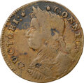 Colonials, 1787 Connecticut, Draped Bust Left, M. 30-X.1, W-3170, R.6--Reverse Scratched--NGC Details. VF. Obverse 30 is known with rev...