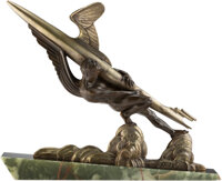 Frédéric Focht (French, b. 1879) Force, circa 1930 Bronze 18-1/2 inches (47.0 cm) on a 2-3/4 inch