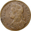 1787 Connct Connecticut Copper, Draped Bust Left, AU58 NGC. NGC Census: (20/50). PCGS Population: (6/11). AU58. ...(PCGS...