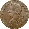 Colonials, 1787 Connecticut, Draped Bust Left, M. 33.6-KK, W-3425, R.2, MS63 Brown NGC. 155.0 grains. Obverse die 33.6 is known with re...
