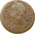Colonials, 1787 Connecticut, Draped Bust Left, M. 33.10-W.6, W-3500, High R.6, AU58 NGC. Obverse die 33.10 is known with reverse dies W...
