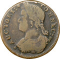 Colonials, 1787 Connecticut, Draped Bust Left, M. 33.12-W.3, W-3525, Low R.7, VF20 NGC. 145.2 grains. Obverse die 33.12 is known with r...