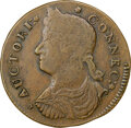 Colonials, 1787 COPPER Connecticut, Draped Bust Left, M. 33.36-T.3, W-3905, R.8, XF40 NGC. 148.3 grains. Obverse die 33.36 is kn...