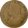 Colonials, 1787 COPPER Connecticut, Draped Bust Left, M. 33.48-Z.25, W-4040, High R.7, VF20 NGC. 137.3 grains. Obverse die 33.48 is kn...