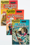 Golden Age (1938-1955):Classics Illustrated, Classics Illustrated First Editions Group of 4 (Gilberton, 1948-49) Condition: Average VF.... (Total: 4 Comic Books)