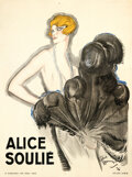 """Movie Posters:Miscellaneous, Alice Soulié (1926). Very Fine+ on Linen. French Personality Poster (47"""" X 53"""") Jean-Gabriel Domergue Artwork. . ..."""