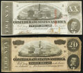 Confederate Notes:1863 Issues, T58 $20 1863 Extremely Fine;. T67 $20 1864 Very Fine.. ... (Total: 2 items)