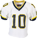 Football Collectibles:Uniforms, 1998 Tom Brady Game Worn/Game Issued Michigan Wolverines Jersey....