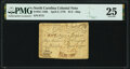 Colonial Notes:North Carolina, North Carolina April 2, 1776 $1/2 Ship Fr. NC-156h PMG Very Fine 25.. ...