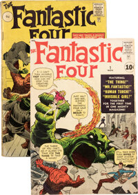 Fantastic Four #1 and 2 Group (Marvel, 1961). ... (Total: 2 Comic Books)