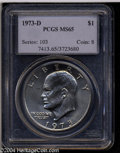 Eisenhower Dollars: , 1973-D MS65 PCGS. ...