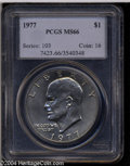 Eisenhower Dollars: , 1977 MS66 PCGS. ...