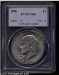Eisenhower Dollars: , 1978 MS66 PCGS. ...