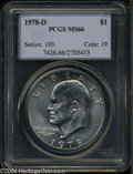 Eisenhower Dollars: , 1978-D MS66 PCGS. ...