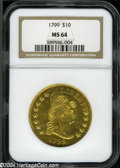 Early Eagles: , 1799 Large Stars Obverse MS64 NGC. ...