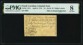 Colonial Notes:North Carolina, North Carolina April 2, 1776 $1 Scroll with White Letters Fr. NC-157e PMG Very Good 8.. ...