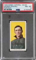 Baseball Cards:Singles (Pre-1930), 1909-11 T206 Sweet Caporal 150/30 George Stovall (Portrait) PSA NM-MT 8 - Pop Two, None Higher With This Brand/Series/Factory ...