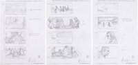 """Game of Thrones """"Funeral at the Iron Islands"""" Storyboards by William Simpson Group of 5 (HBO"""