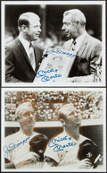 Autographs:Photos, Mickey Mantle, Joe DiMaggio Signed Photographs, Lot of 2.... (Total: 2 items)