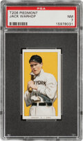 Baseball Cards:Singles (Pre-1930), 1909-11 T206 Piedmont 350 Jack Warhop PSA NM 7 - Pop One, Only Three Higher With This Brand & Series. ...