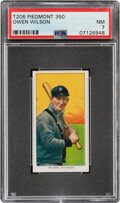 Baseball Cards:Singles (Pre-1930), 1909-11 T206 Piedmont 350 Owen Wilson PSA NM 7 - Only Three Higher With This Brand & Series. ...