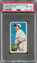 Baseball Cards:Singles (Pre-1930), 1909-11 T206 Sweet Caporal 350/30 Hooks Wiltse (Pitching) PSA NM-MT 8 - Pop Four, None Higher With This Brand/Series/Factory C...