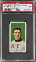 Baseball Cards:Singles (Pre-1930), 1909-11 T206 Sweet Caporal 350/25 Hooks Wiltse (Portrait-No Cap) PSA NM 7 - Pop One, None Higher With This Brand/Series/Factor...