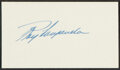 Autographs:Index Cards, Roy Campanella Signed Cut. The most beloved figure...
