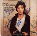 Music Memorabilia:Autographs and Signed Items, Bruce Springsteen and E Street Band Signed Darkness On the Edge of Town Vinyl LP (Columbia, 35318)....