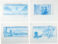 Movie/TV Memorabilia:Original Art, The Chronicles of Narnia: The Lion, The Witch and the Wardrobe Storyboards Original Art Group of 17 Signed by ...