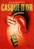 """Movie Posters:Miscellaneous, Allumettes Casque D'Or (1939). Fine+ on Linen. Full-Bleed French Advertising Poster (43"""" X 51.25"""") Sepo Artwork.. ..."""