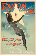 "Movie Posters:Miscellaneous, Rayon d'Or (c. 1895). Very Fine- on Linen. French Advertising Half Grande (31.5"" X 48"") Jean de Paleologue Artwork.. ..."