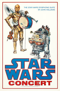 "Star Wars Concert (20th Century Fox, 1978). Rolled, Near Mint. One Sheet (24.75"" X 37"") John Alvin Artwork..."