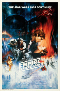 """The Empire Strikes Back (20th Century Fox, 1980). Rolled, Very Fine. One Sheet (27"""" X 41"""") Original Roger Kast..."""