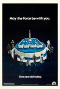 """Movie Posters:Science Fiction, Star Wars (20th Century Fox, 1978). Very Fine+ on Linen. One Sheet (27.5"""" X 41"""") Anniversary Birthday Cake Style.. ..."""