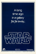 """Movie Posters:Science Fiction, Star Wars (20th Century Fox, 1977). Very Fine+ on Linen. One Sheet (27"""" X 41"""") Teaser Style B.. ..."""