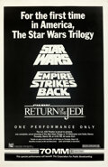 "Movie Posters:Science Fiction, Star Wars Triple-Bill (20th Century Fox, R-1985). Rolled, Very Fine. One Sheet (27"" X 41.5"") 70mm Style.. ..."