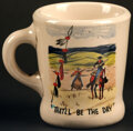 "Movie Posters:Western, The Searchers (Warner Bros., 1956). Fine/Very Fine. Hand-Painted Cast and Crew Ceramic Coffee Mug (Diameter: 3.25"", Height: ..."