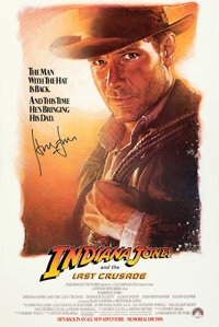 "Indiana Jones and the Last Crusade (Paramount, 1989). Rolled, Near Mint. Autographed One Sheet (27"" X 40.5"") S..."