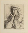 Works on Paper, Gerald L. Brockhurst (British, 1890-1978). Five Portraits. Etchings on paper, each. 7-1/2 x 5-3/4 inches (19.1 x 14.6 cm... (Total: 5 Items)