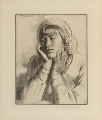 Gerald L. Brockhurst (British, 1890-1978) Five Portraits Etchings on paper, each 7-1/2 x 5-3/4 in