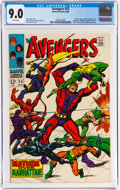 Silver Age (1956-1969):Superhero, The Avengers #55 (Marvel, 1968) CGC VF/NM 9.0 White pages....