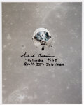 Explorers:Space Exploration, Michael Collins Signed Apollo 11 Command Module Color Photo. ...