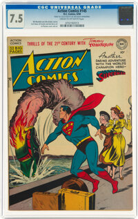 Action Comics #145 (DC, 1950) CGC VF- 7.5 Cream to off-white pages