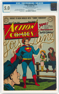 Action Comics #134 (DC, 1949) CGC VG/FN 5.0 Cream to off-white pages