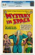 Golden Age (1938-1955):Science Fiction, Mystery in Space #20 (DC, 1954) CGC FN 6.0 Cream to off-white pages....