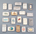 Collectible, A Group of Twenty American Metal Advertising Match Safes, late 19th-early 20th century . 2-3/4 inches (7.0 cm) (longest). ... (Total: 20 Items)